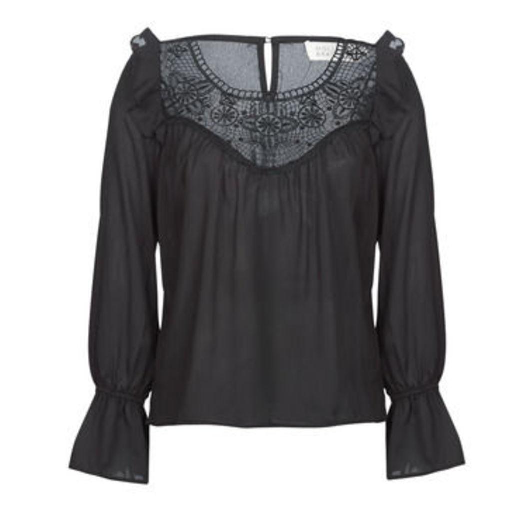Molly Bracken  DEREN  women's Blouse in Black