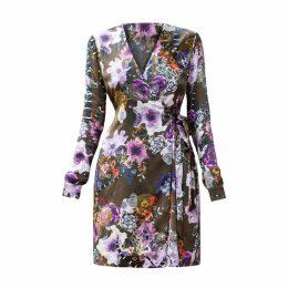 SABINA SÖDERBERG - Lena Wrap Dress Brown Floral