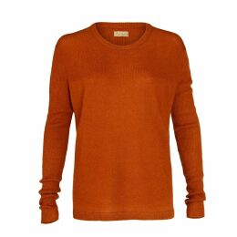 Asneh - Beverly Brown Cashmere Sweater With Rib Details