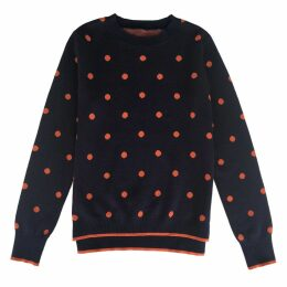 IGGY & BURT - Spot Jumper Navy & Orange