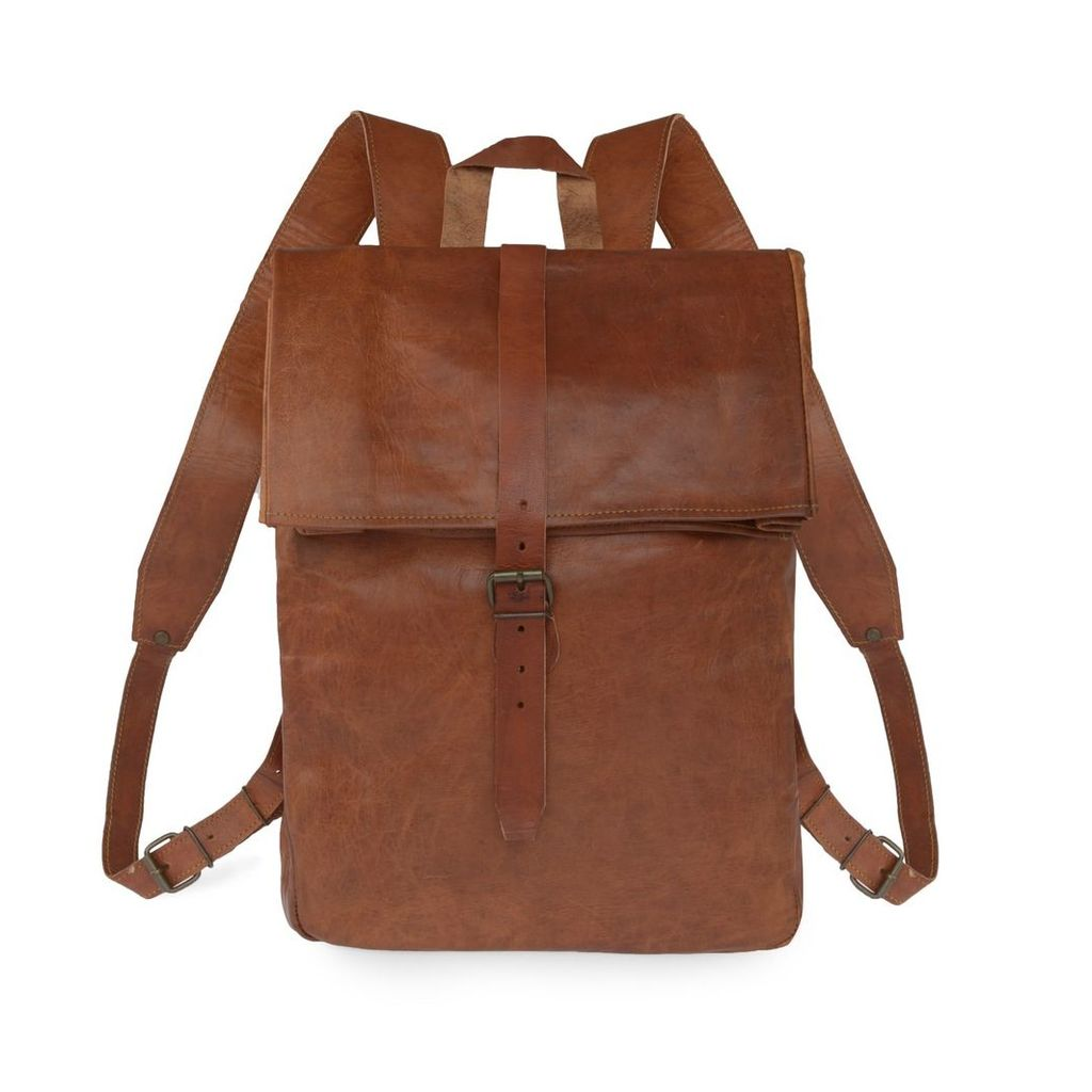 VIDA VIDA - Vida Vintage Leather Roll Top Backpack