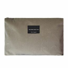 ONE NINE EIGHT FIVE - Taupe Velvet Zip Pouch Large