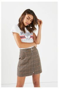 Womens Vero Moda Petite Royal High Waist Wool Skirt -  Brown