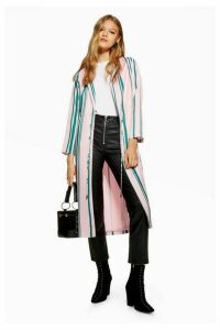 Womens Petite Stripe Duster Coat - Multi, Multi