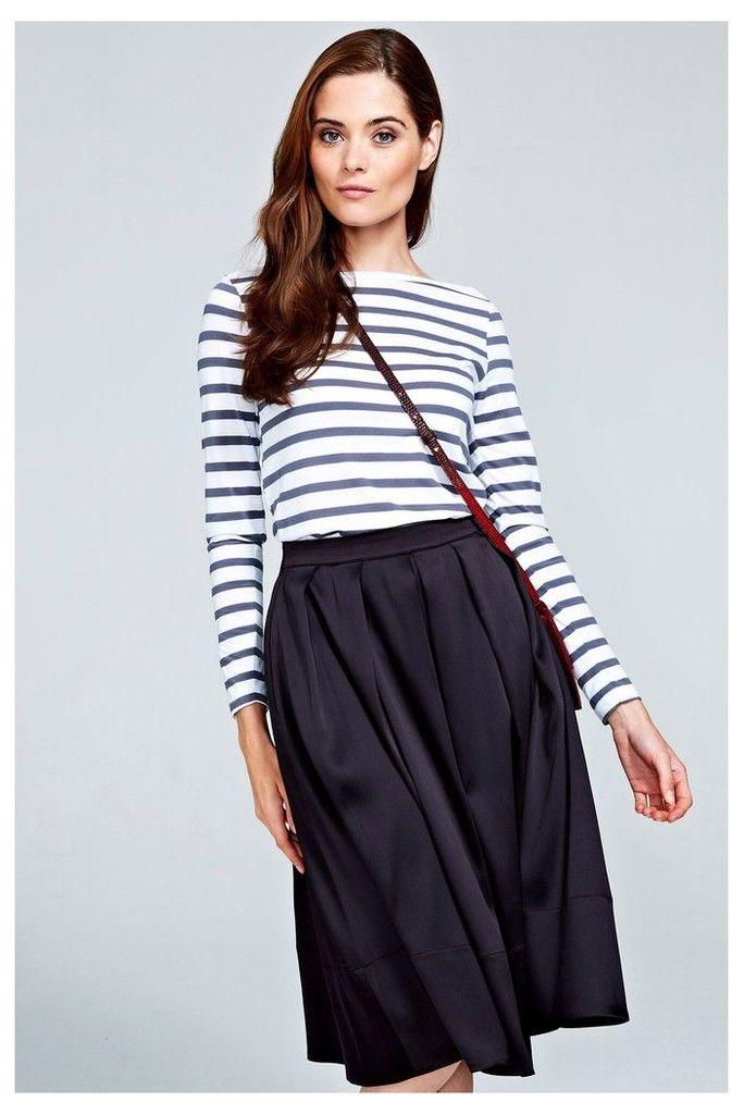 Womens HotSquash Black Box Pleat Silky Skirt -  Black