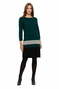 Womens Phase Eight Blue Celina Block Knitted Tunic Dress -  Blue