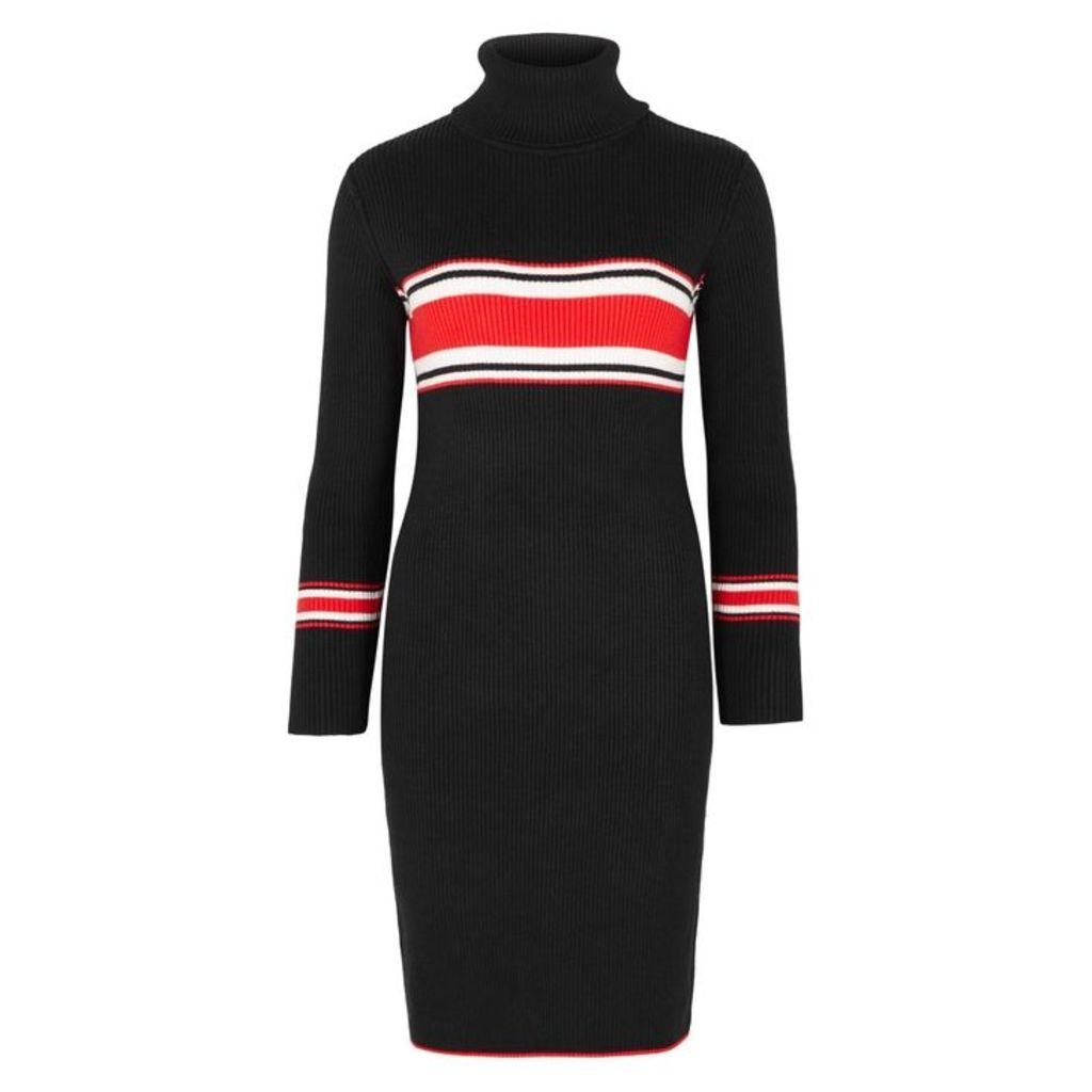 Free People Striped Ribbed-knit Midi Dress