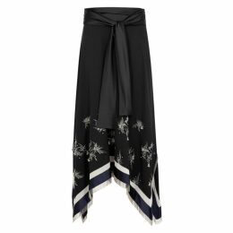 3.1 Phillip Lim Black Embellished Midi Skirt