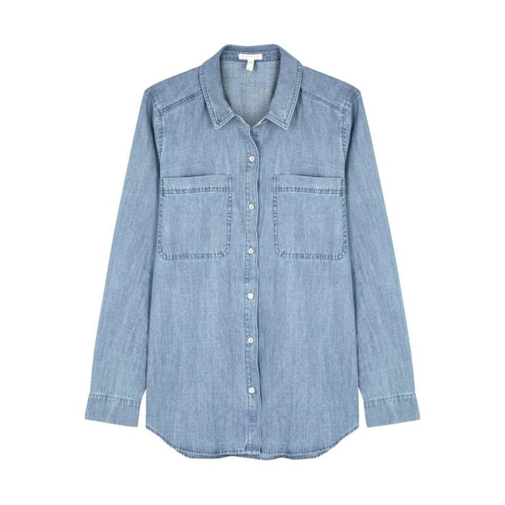 EILEEN FISHER Light Blue Organic Cotton Shirt