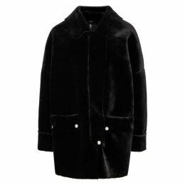 Free People Lindsay Black Faux Fur Coat