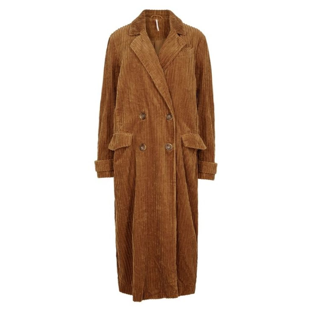 Free People Abbey Road Brown Corduroy Coat