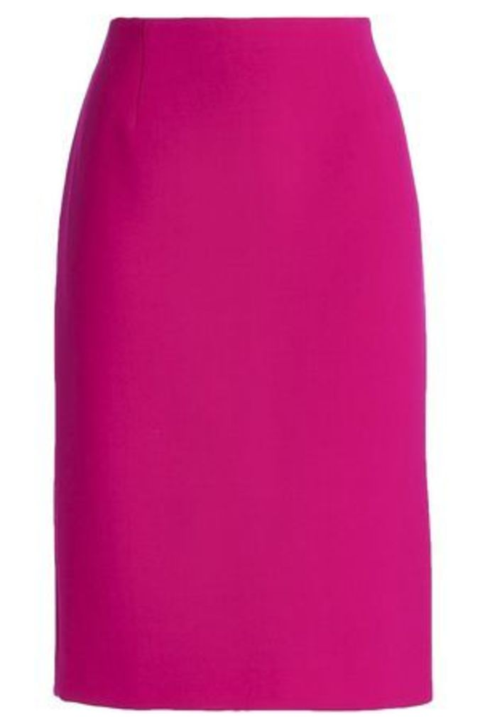 Marc Jacobs Woman Wool-crepe Pencil Skirt Magenta Size 4