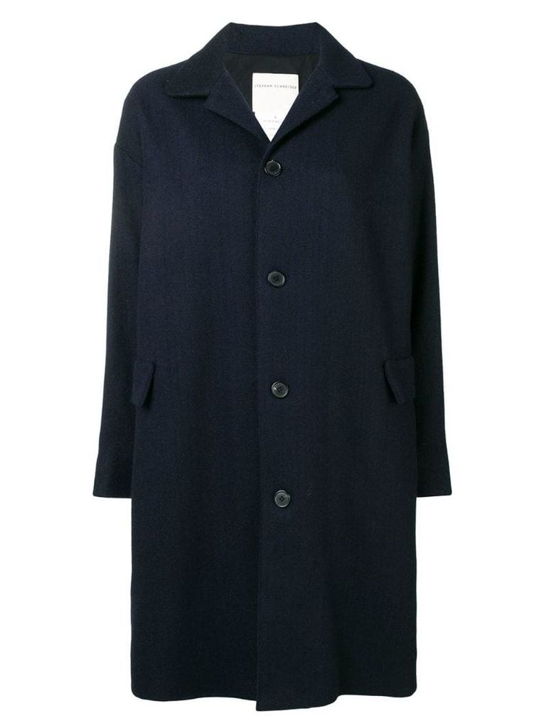 Stephan Schneider Bouffant single-breasted coat - Blue