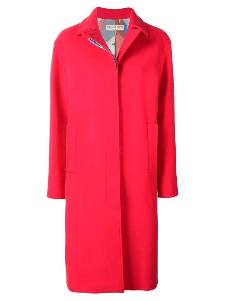 Emilio Pucci Wool-Cashmere Blend Coat - Red