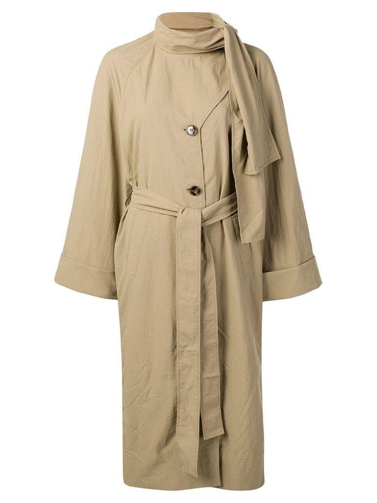 Rejina Pyo bow tie trench coat - Brown