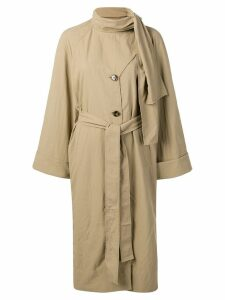 Rejina Pyo bow tie trench coat - Brown