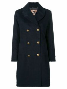 Sealup double-breasted coat - Blue