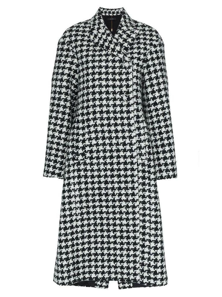 Ellery Bel Air Manastyle houndstooth wool and alpaca blend coat -