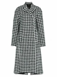 Ellery Bel Air Manastyle houndstooth wool and alpaca blend coat -