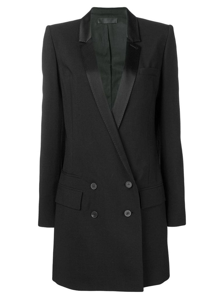 Haider Ackermann double breasted midi coat - Black