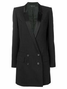 Haider Ackermann double breasted midi coat - Black