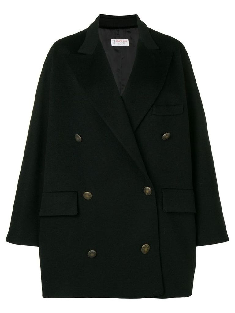 Alberto Biani double breasted oversized coat - Black