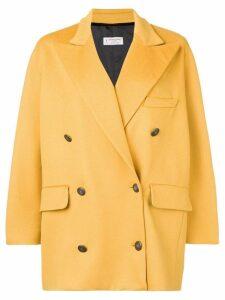 Alberto Biani double breasted oversized coat - Yellow