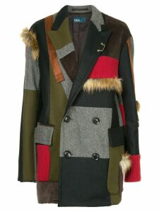 Kolor contrasting panels coat - Multicolour