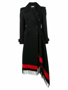 Alexander McQueen double-breasted wool blanket coat - Black