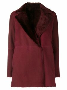 Theory short reversible coat - Red