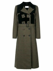 Maison Margiela houndstooth patterned coat - Black