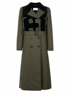 Maison Margiela houndstooth patterned coat - Black