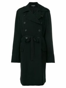 Ann Demeulemeester slim-fit buttoned coat - Black