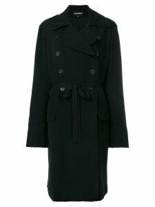 Ann Demeulemeester slim-fit buttoned coat - Black