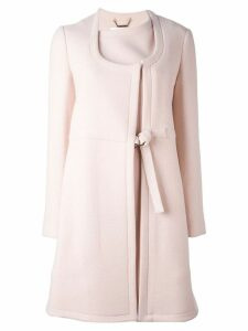Chloé tied midi coat - Pink