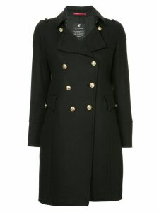 Loveless double-breasted flared coat - Black