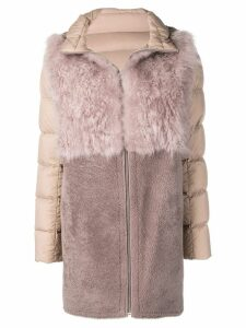 Liska hooded padded coat - Pink