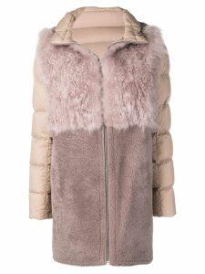 Liska hooded padded coat - Pink