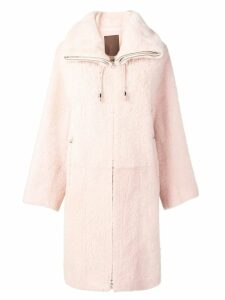 Liska oversized collar coat - Pink