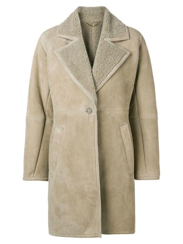 Salvatore Ferragamo shearling-lined coat - Neutrals