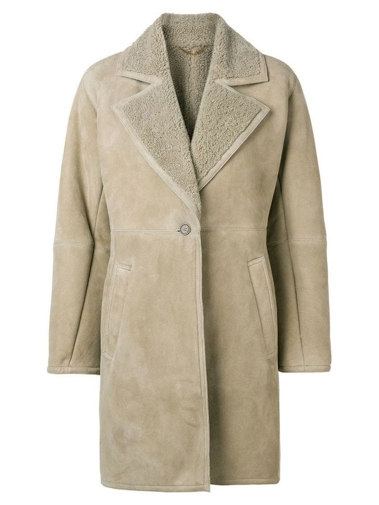 Salvatore Ferragamo shearling-lined coat - Neutrals