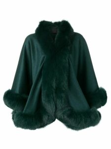 Liska oversized fur-trimmed coat - Green