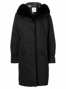 Moncler hooded parka coat - Black