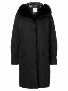 Moncler hooded parka coat - Black