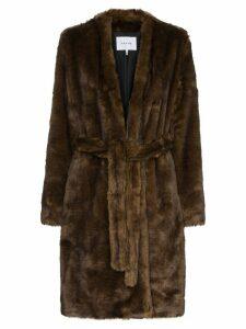 FRAME faux mink robe - Brown