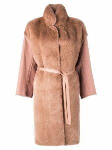 Liska belted coat - Neutrals