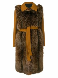 Blancha loose fitted coat - Brown