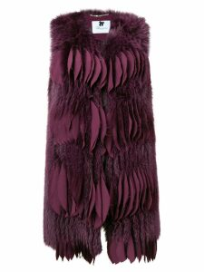 Blumarine short fur gilet - Purple