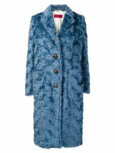 The Gigi single-breasted shearling coat - Blue