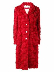 The Gigi single-breasted shearling coat - Red